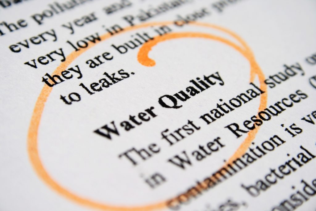 Water pollution in the Great Lakes Region.